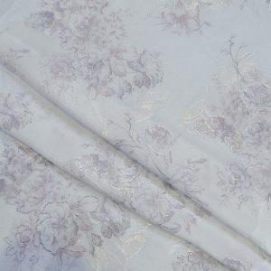 پارچه چادر عروس ساتن چروک گلدار