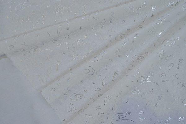 پارچه چادر عروس فلورینا نقره کوب طرحدار