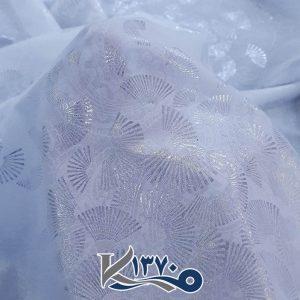پارچه چادر سفید طرحدار ژاپن