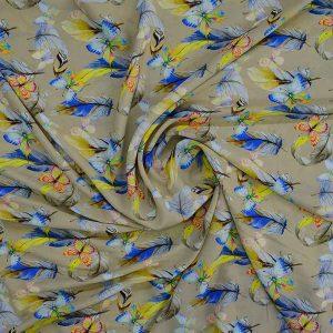 پارچه کرپ اندونزی طرح پروانه