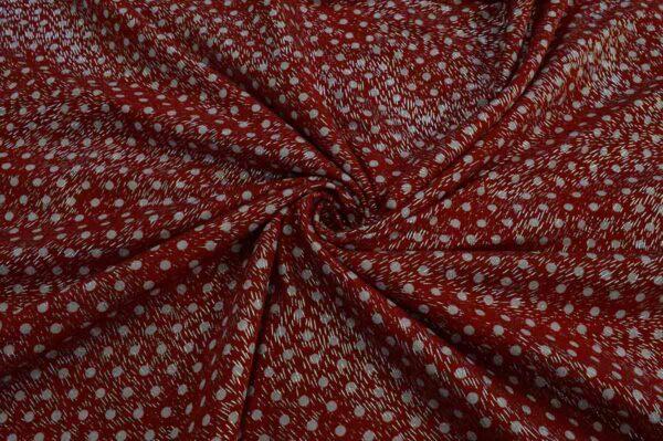 پارچه ریون توپی نقره کوب قرمز