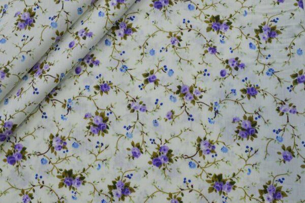 پارچه تترون چادر نماز گل رز رونده