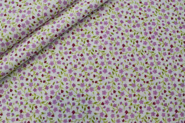 پارچه تترون چادرنماز طرح شکوفه