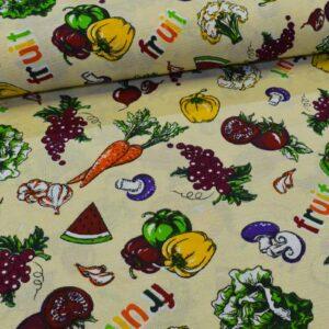 پارچه دستمال آشپزخانه طرح سبزیجات 1