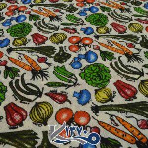 پارچه دستمال آشپرخانه طرح سبزیجات 2